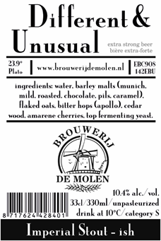 Molen DIFFERENT & UNUSUAL 10,4% IM STOUT