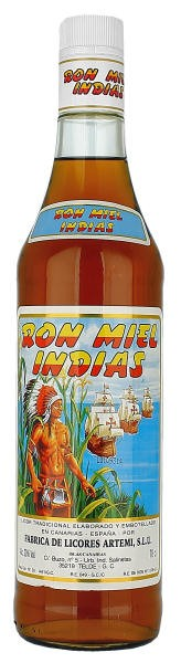 RON MIEL INDIAS Licor RumHoning 20% 70CL