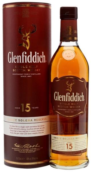 GLENFIDDICH 15YO single malt 40% 70CL