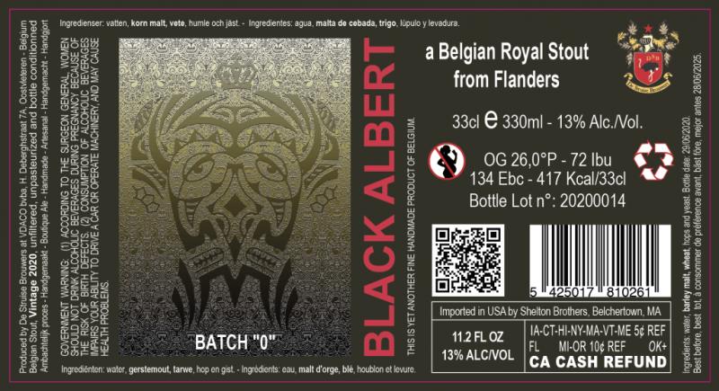 Struise BLACK ALBERT BATCH 0 13% STOUT 33CL